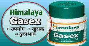 Himalaya Gasex tablet in Hindi-उपयोग/किमत/दुष्प्रभाव/खुराक/सवाल-जवाब